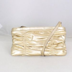 MICHAEL KORS Metallic Gold Crossbody Item#16544